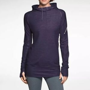 Nike Dri Fit Wool Hoodie Sweatshirt M Purple